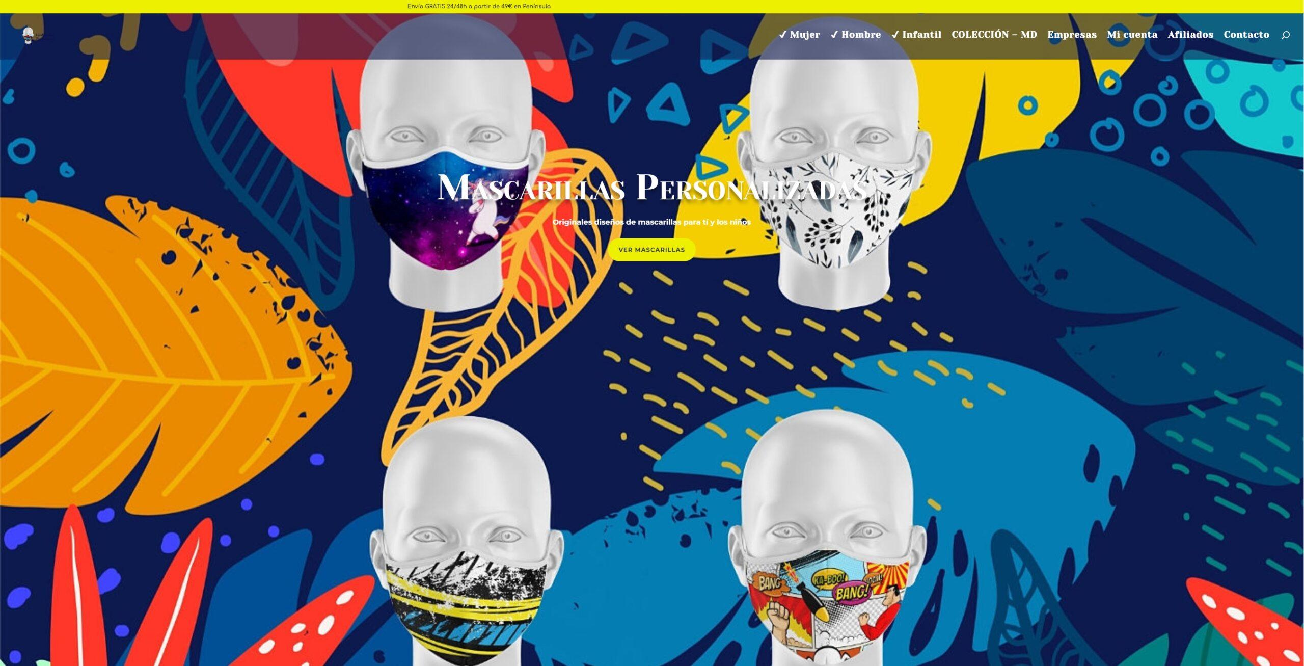 tienda online las mascarillas personalizadas .es